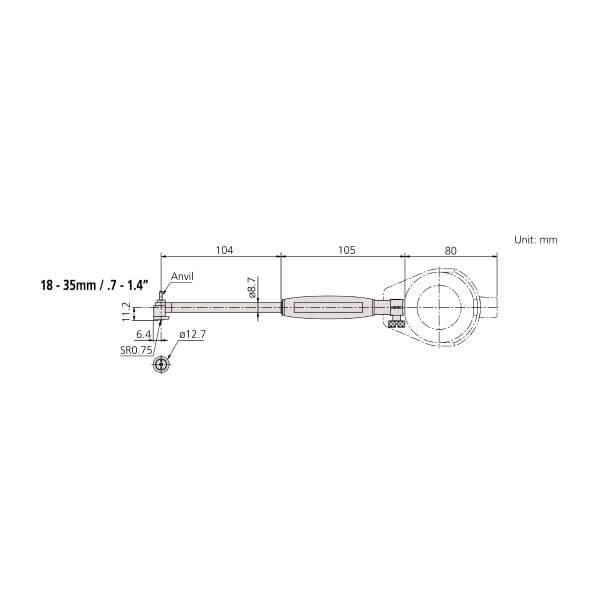Đồng hồ đo lỗ loại tiêu chuẩn Mitutoyo Series 511_2