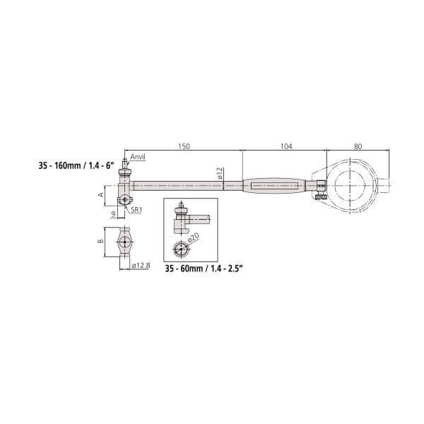 Đồng hồ đo lỗ loại tiêu chuẩn Mitutoyo Series 511_3