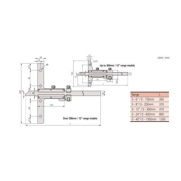 Thước đo sâu cơ khí Mitutoyo Series 527_3