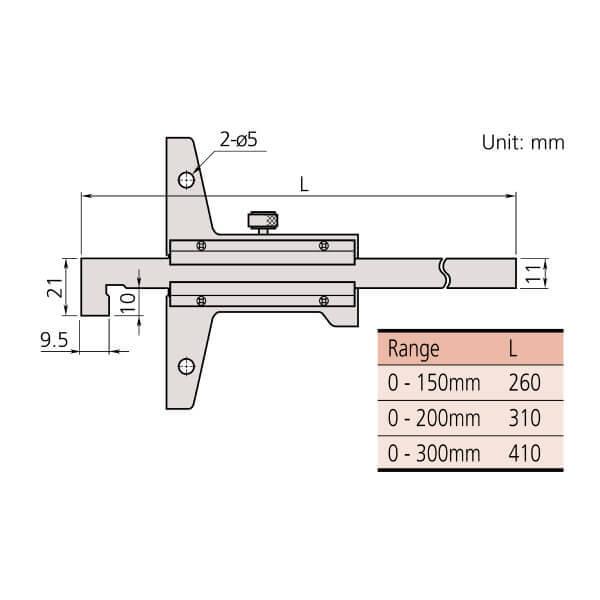 Thước đo sâu cơ khí loại đầu móc Mitutoyo Series 527_2