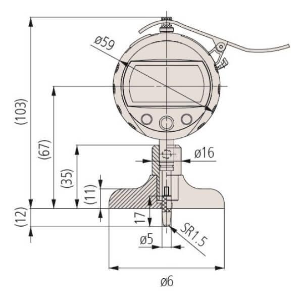 Đồng hồ đo sâu điện tử ABSOLUTE Mitutoyo Series 547_2