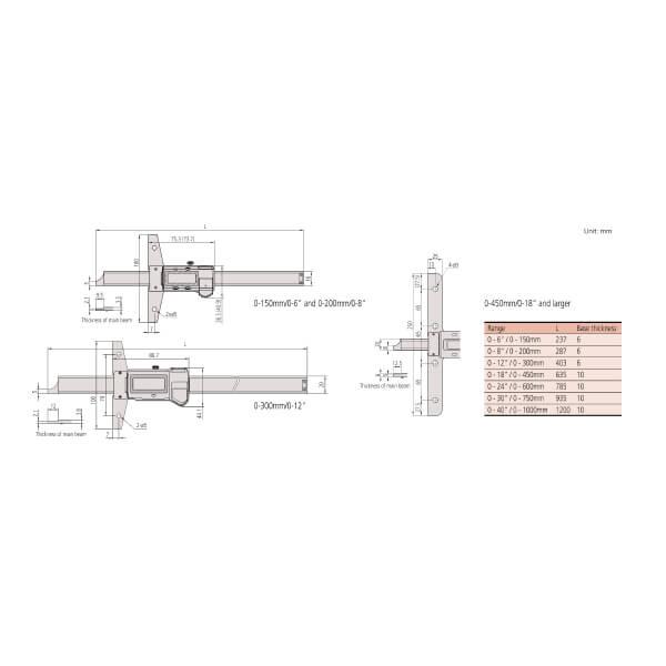 Thước đo sâu điện tử ABSOLUTE Mitutoyo Series 571_3