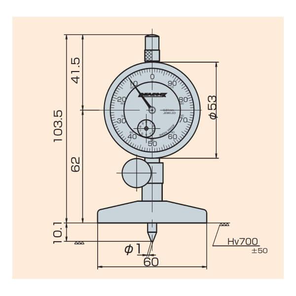 Đồng hồ đo sâu Peacock T Series_4