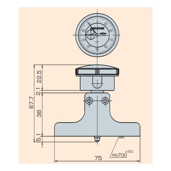 Đồng hồ đo sâu Peacock T Series_5