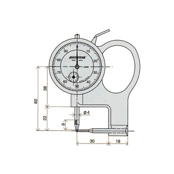 Đồng hồ đo độ dày ống Peacock_3
