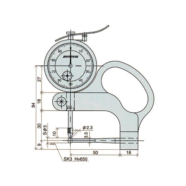 Đồng hồ đo độ dày ống Peacock_4