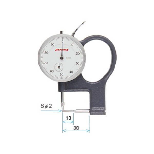 Đồng hồ đo độ dày ống Peacock_0