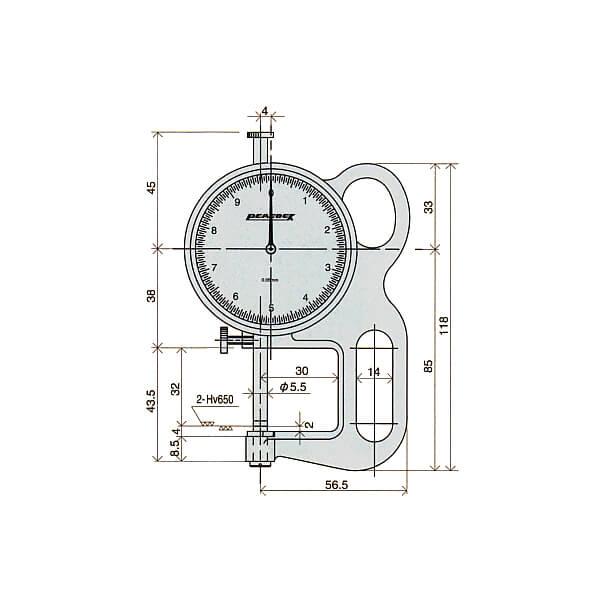 Đồng hồ đo độ dày (đo nhanh) Peacock_2