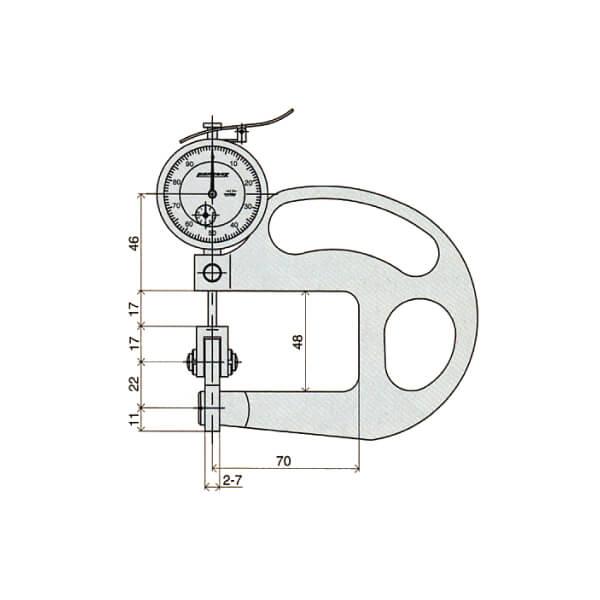 Đồng hồ đo độ dày dạng con lăn Peacock_2