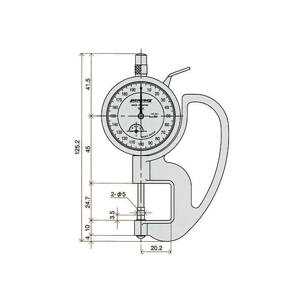 Đồng hồ đo độ dày Peacock PAT_3