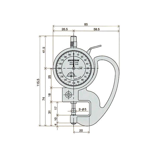 Đồng hồ đo độ dày Peacock PAT_4