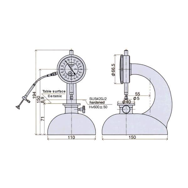 Thiết bị đo độ dày loại đồng hồ Peacock_2