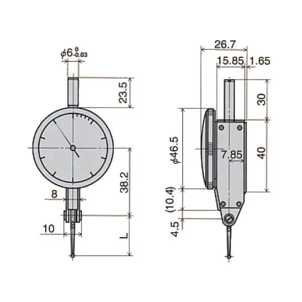 Đồng hồ so chân gập loại đặc biệt D series_3
