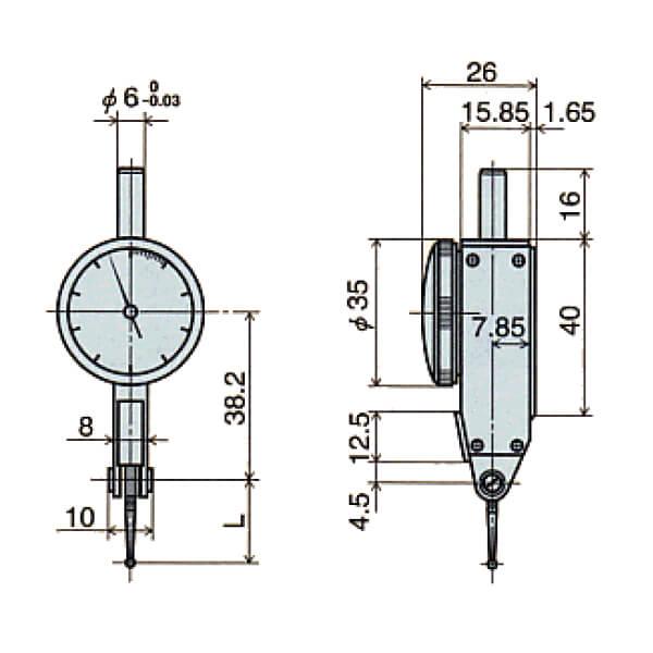 Đồng hồ so chân gập loại đặc biệt E series_3