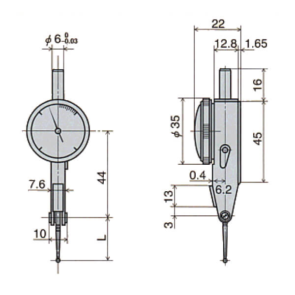 Đồng hồ so chân gập loại đặc biệt E series_4