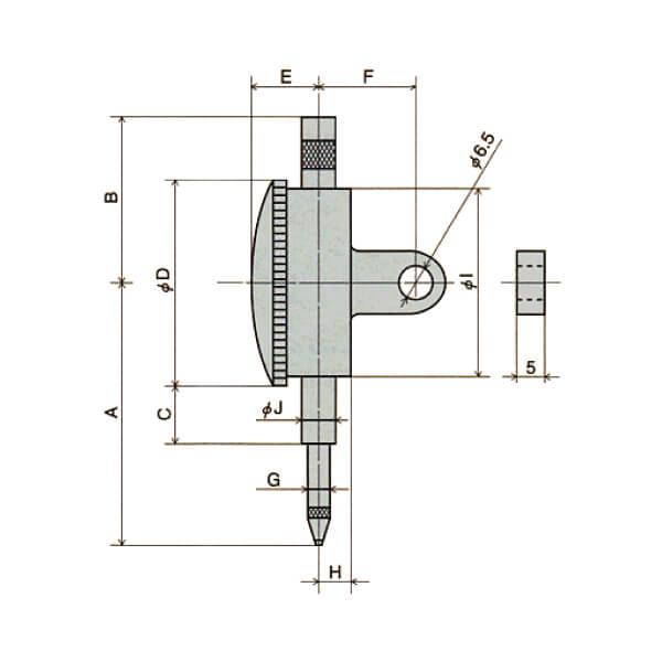 Đồng hồ so cơ khí loại tiêu chuẩn Peacock _4