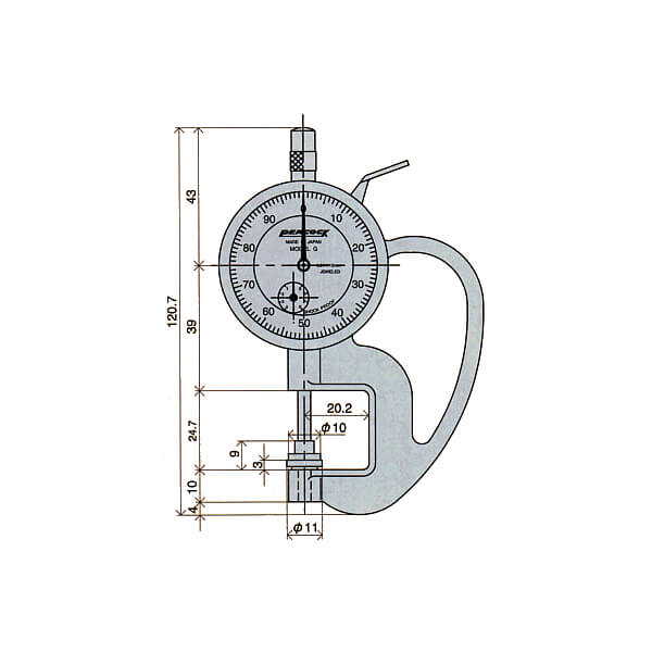Đồng hồ đo độ dày giấy Peacock_2