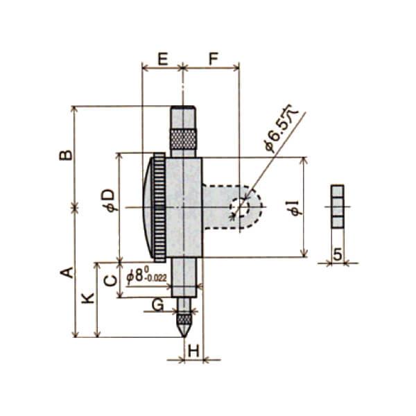 Đồng hồ so cơ khí một vòng đo Peacock Z series_4