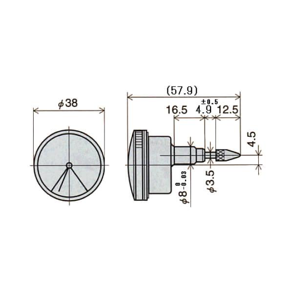 Đồng hồ so cơ khí một vòng đo Peacock Z series_5