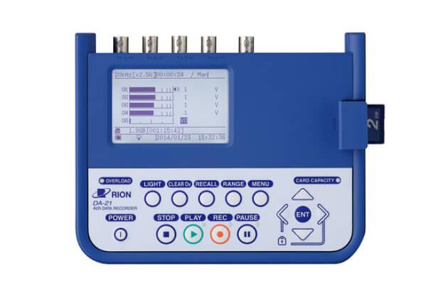 Máy ghi dữ liệu âm thanh và dao động 4 kênh Rion DA-21