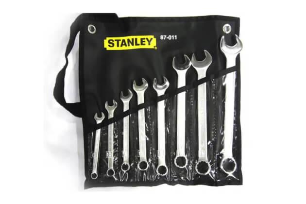 Bộ cờ lê vòng miệng 8 chi tiết Stanley 87-011-1