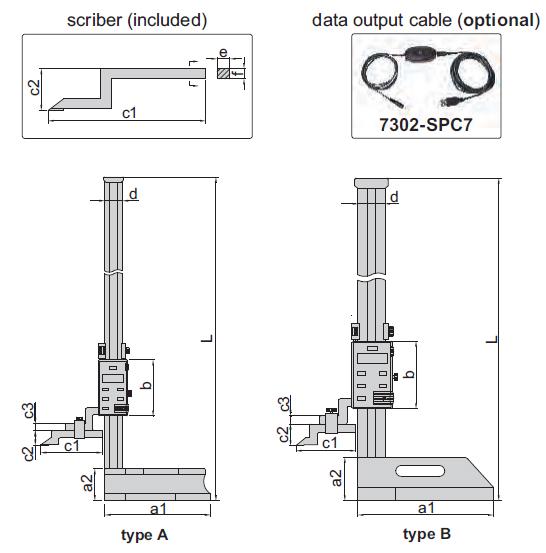 Thước đo cao điện tử (không chống thấm nước) Insize 1150
