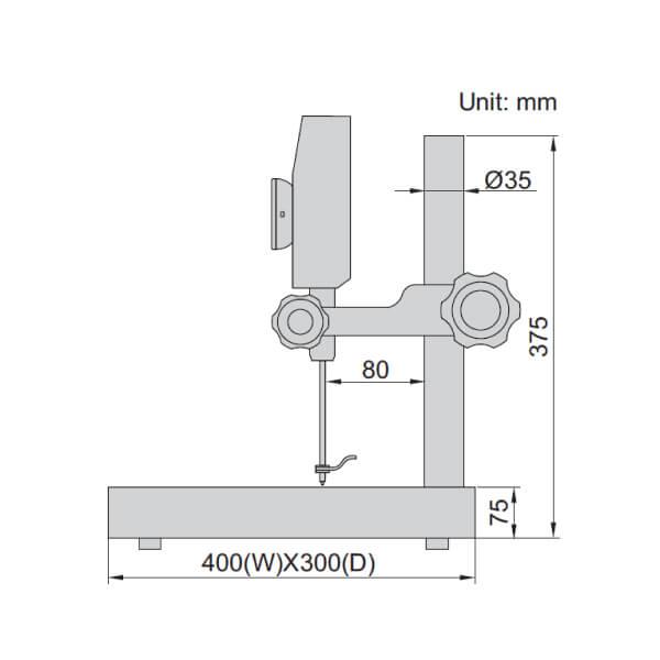 Thước đo cao điện tử dải đo lớn Insize 1158-100