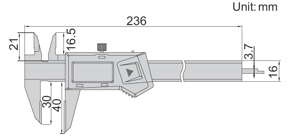 Thước kẹp điện tử vạch dấu Insize 1166