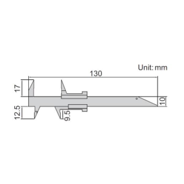 Thước kẹp cơ khí đo răng Insize 1226-70