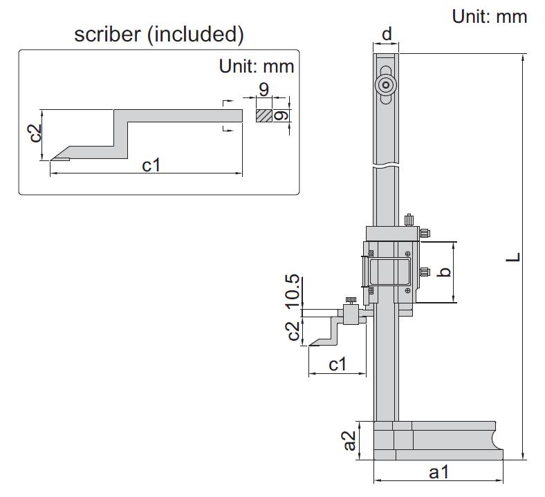 Thước đo cao cơ khí Insize 1250