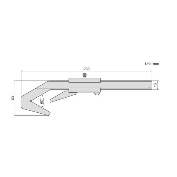 Thước kẹp cơ khí dạng chữ V Insize 1273-403