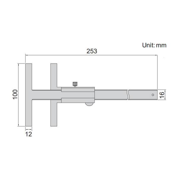 Dụng cụ lấy dấu chữ T Insize 1275-150B