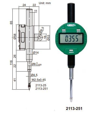 Đồng hồ so điện tử không tự động tắt nguồn Insize 2113