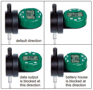 Đồng hồ so điện tử loại mặt xoay đa năng Insize 2118