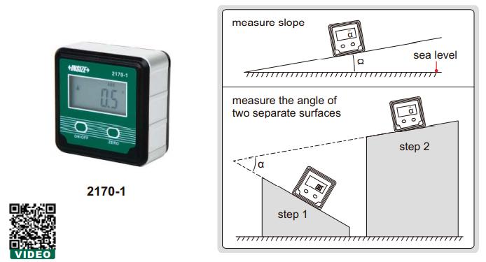 Thước thủy (nivo) điện tử đo độ dốc Insize 2170