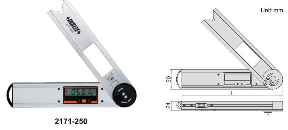 Thước đo góc điện tử Insize 2171
