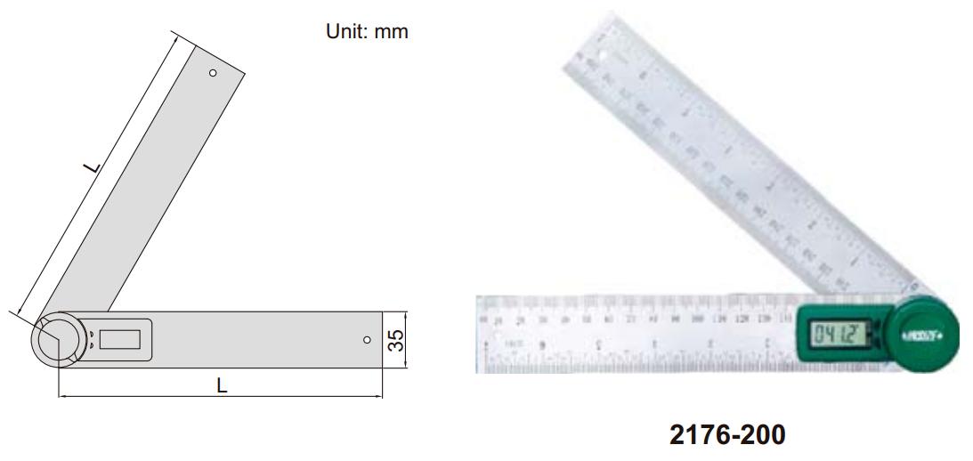 Thước đo góc điện tử Insize 2176