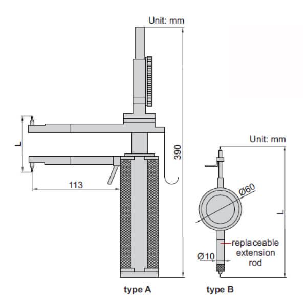 Đồng hồ đo ren côn trong Insize 2231