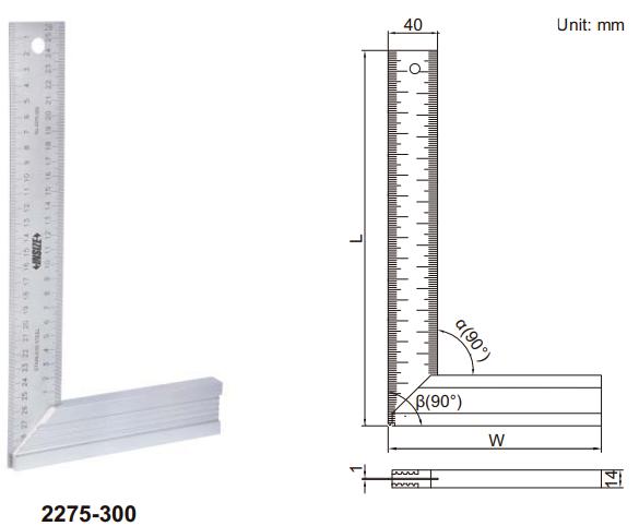 Thước đo thử độ vuông góc Insize 2275