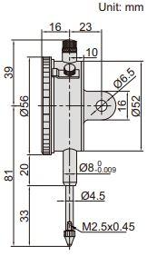 Đồng hồ so cơ khí hành trình dài loại cơ bản Insize 2302