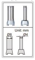 Đồng hồ so chân gập dải đo lớn Insize 2386