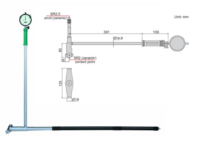 Thước đo lỗ Insize 2828-800A 2128-800A