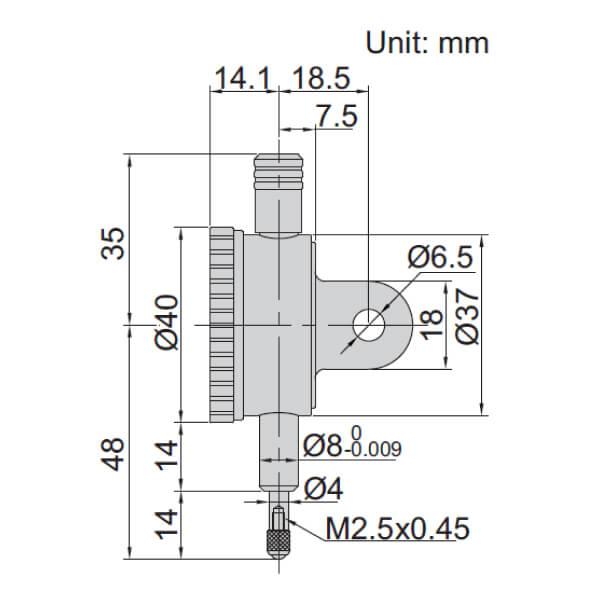 Đồng hồ so cơ khí độ chính xác cao Insize 2890-1