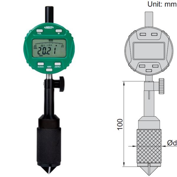 Đồng hồ đo cạnh vát Insize 2942