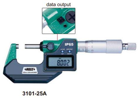 Panme điện tử đo ngoài Insize 3101