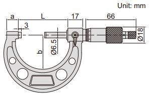 Panme đo ngoài Insize 3203