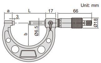Panme đo ngoài Insize 3210