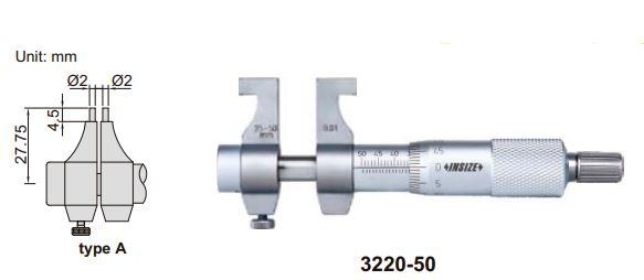 Panme đo trong cơ khí Insize 3220