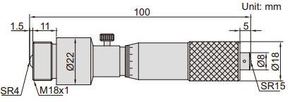 Panme đo ngoài dạng ống Insize 3225