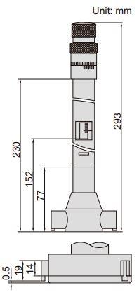 Panme đo trong 3 điểm Insize 3228